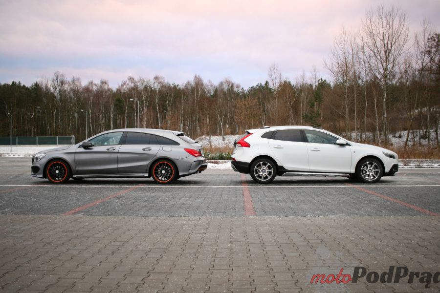 mercedes cla shooting brake vs volvo v40 testy aut. Black Bedroom Furniture Sets. Home Design Ideas