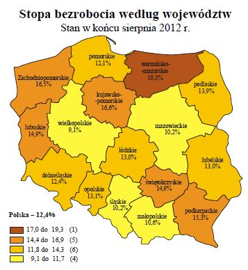 Bezrobocie w Polsce VIII 2012