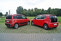 Fiat Panda Easy  i Volkswagen Up - tył aut