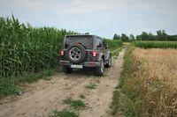 Jeep Wrangler Sahara - sylwetka z tyłu fot. 2