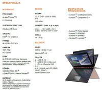 Specyfikacja Lenovo YOGA 900