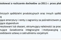 Zeznania roczne 2011: PIT-12 do 9 stycznia