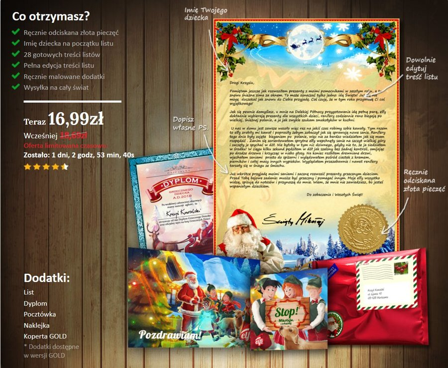 Wybierz list od Świętego Mikołaja