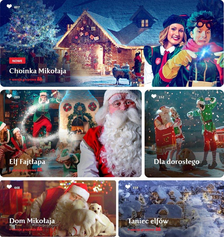 Wybierz film od Świętego Mikołaja