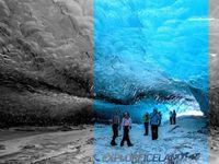 W lodowej jaskini