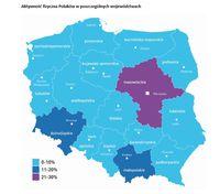 Aktywność fizyczna Polaków w poszczególnych województwach
