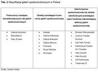 Klasyfikacja galerii społecznościowych w Polsce