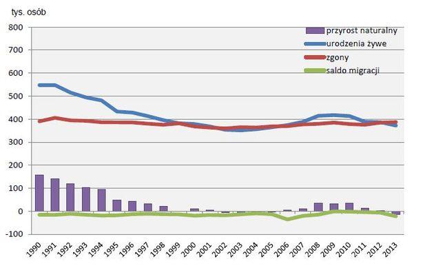 Rozwój demograficzny Polski 2013
