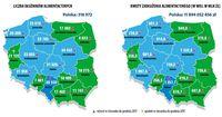 Liczba dłużników alimentacyjnych i kwota zadłużenia - województwa