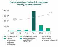 Popyt na powierzchnie magazynowe ze strony sektora e-commerce
