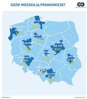 Gdzie mieszkają frankowicze?