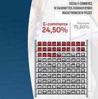 Udział e-commerce w całkowitych zasobach rynku magazynowego