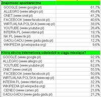 Rankingi portali internetowych III 2013 - V 2013