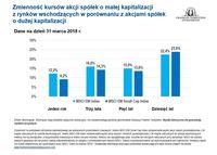 Zmienność kursów akcji spółek o małej i dużej kapitalizacji