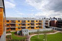 Apartamenty Sfera - widok na ogród i fasady