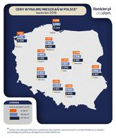 Ceny wynajmu mieszkań w Polsce, kwiecień 2018 r.