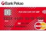 Wielowalutowa karta debetowa od Banku Pekao