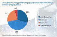 Udział wydatków na energię elektryczną w comiesięcznym budżecie