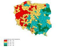 % kredytobiorców wśród mieszkańców