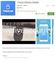 Fałszywa aplikacja Trezor Mobile Wallet