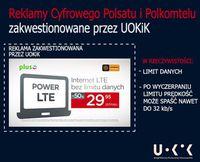 Nieuczciwa reklama Power LTE