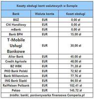 Koszty obsługi kont walutowych w Europie