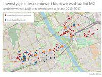 Inwestycje mieszkaniowe i biurowe wzdłuż II linii metra