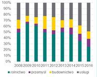 Struktura sektorowa oświadczeń o zamiarze powierzenia pracy cudzoziemcowi