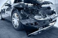 Auto zniszczone w wypadku