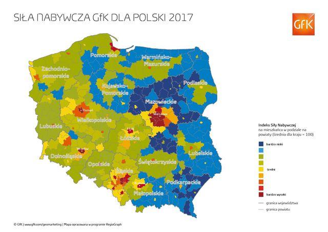 Siła nabywcza w Polsce 2017