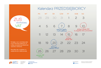 Kalendarz przedsiębiorcy - o czym pamiętać