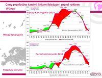 Przebieg zmian cen w liniach Wizzair