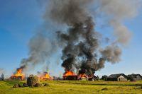 Pożar gospodarstwa rolnego