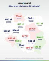Gdzie emeryci płacą za OC najmniej?