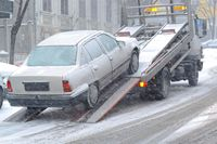 Holowanie auta zimą