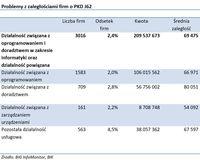 Problemy z zaległościami firm o PKD J62