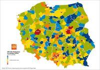 Zróżnicowanie siły nabywczej online w powiatach