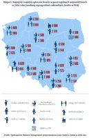 Najwyżej i najniżej opłacane branże w poszczególnych województwach w 2016 roku