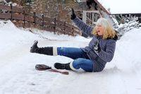 Upadek na śniegu
