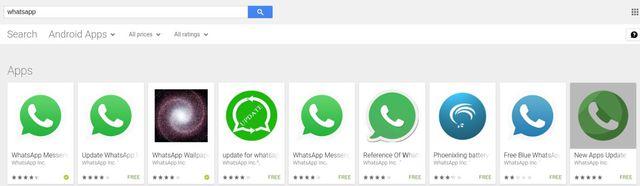Fałszywe aplikacje podszywają się pod WhatsApp'a