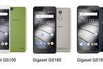 Smartfony Gigaset GS185, GS180 i GS100