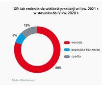 Jak zmieniał się wielkość produkcji w I kw. 2021?