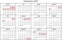 Długie weekendy 2021
