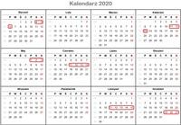 Długie weekendy 2020