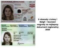 E-dowody z Łotwy i Belgii