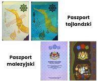 Paszport tajlandzki i malezyjski