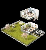 Dom A - wizualizacja