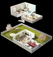 Dom B - wizualizacja
