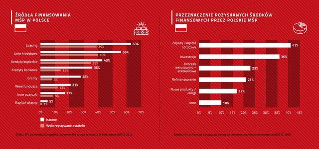 Źródła finansowania MŚP w Polsce i UE. Leasing w czołówce