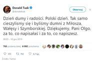 Tweet Donalda Tuska